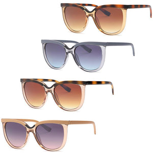 Modern Large Square Fashion Sunglasses 4-Pack