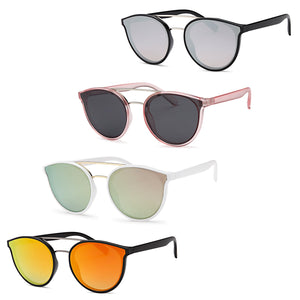AFONiE Metal Bridge Sunglasses (4 Pack)