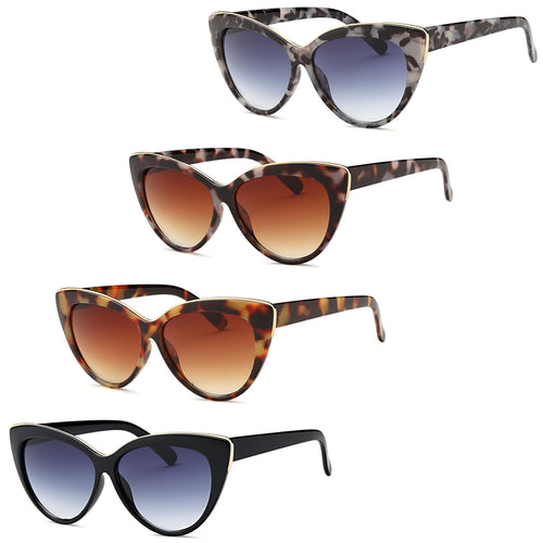 AFONiE Leopard Cat Eye Sunglasses - Pack of 4