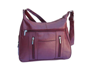 Super-Soft Genuine Lambskin Leather Purse - Brown Color