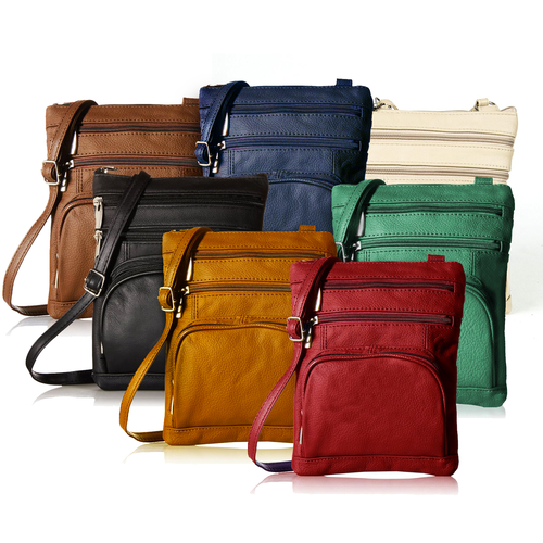 leather crossbody bags on sale