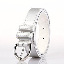"Load image into Gallery viewer, Luxury Slim Belt 1.25"" W - Black Color - WholesaleLeatherSupplier.com"