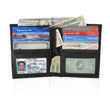 Load image into Gallery viewer, Deluxe RFID-Blocking Soft Genuine Leather Bifold Wallet For Men - Burgundy - WholesaleLeatherSupplier.com