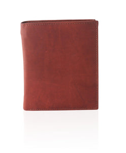 Deluxe RFID-Blocking Soft Genuine Leather Bifold Wallet For Men - Brown