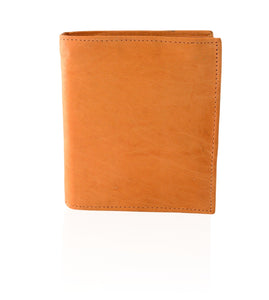 Deluxe RFID-Blocking Soft Genuine Leather Bifold Wallet For Men - Tan - WholesaleLeatherSupplier.com  - 3