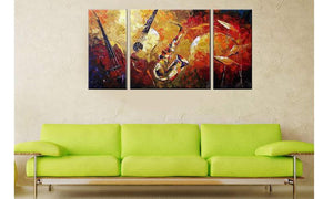 Music Instruments Wall Decor Oil Paintings On Canvas