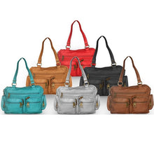 Load image into Gallery viewer, Washable Vegan Leather Bowling Bag - WholesaleLeatherSupplier.com  - 21
