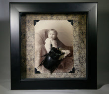 Peril in the Nursery ~ Portrait of Child with Preserved Beetle