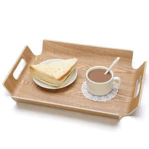 Modern Rectangular 14 inch Natural Wood Tray
