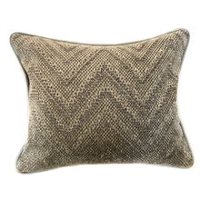 Load image into Gallery viewer, Gray Chevron Pillow with Insert