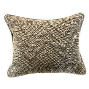 Gray Chevron Pillow with Insert