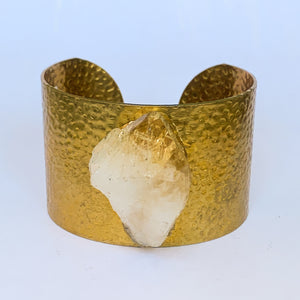 Gold Plated Citrine Cuff Bracelet