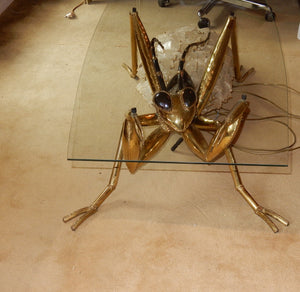 Vintage Praying Mantis Coffee Table - Bronze