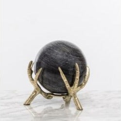 Brass Claw Stand with Marble Ball