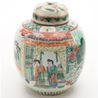 Chinese Ginger Jar Lamp Body, Late 20th Century