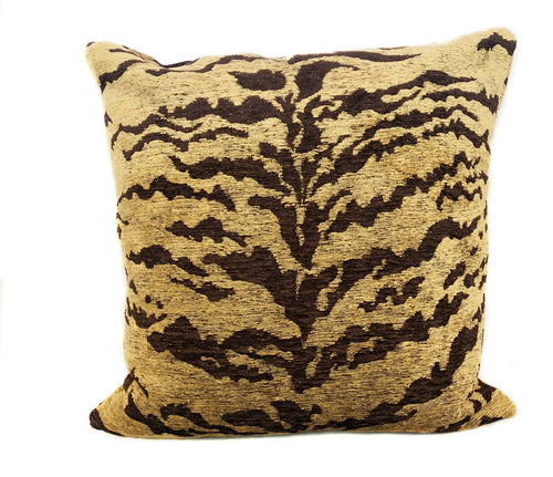 Chenille Tiger Throw Pillow with Insert