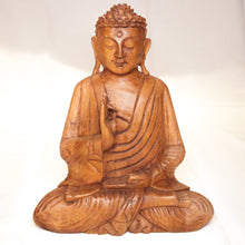 Load image into Gallery viewer, Teak Sitting Buddha Wooden Statue