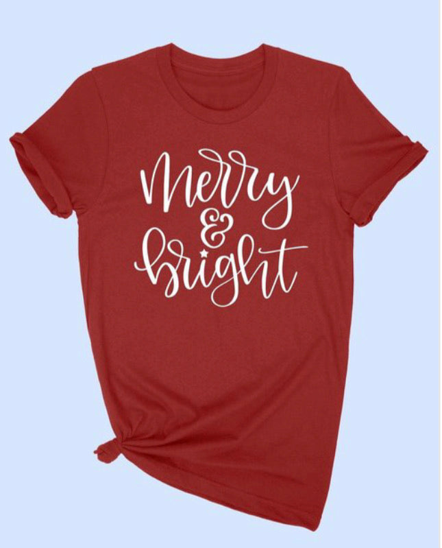 Merry & Bright Tee, Red