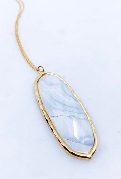 Marbled Necklace, White