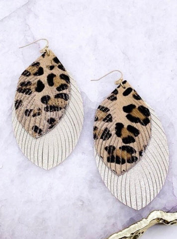 Fringe Leopard Earrings