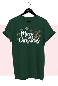 Leopard Christmas Tee, Green