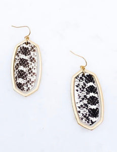 Snake Leather Earrings