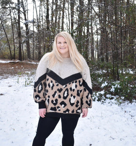 Wild for Winter Sweater, Leopard