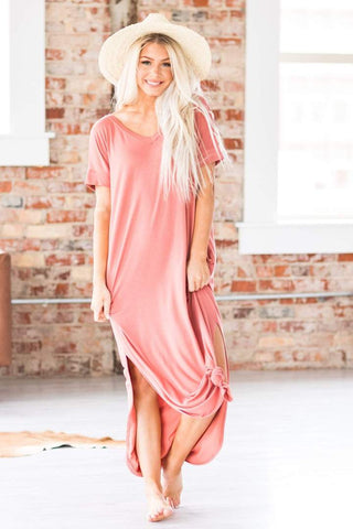 Summer Days Maxi Dress, Dusty Rose