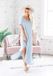 Summer Days Maxi Dress, Ash Blue
