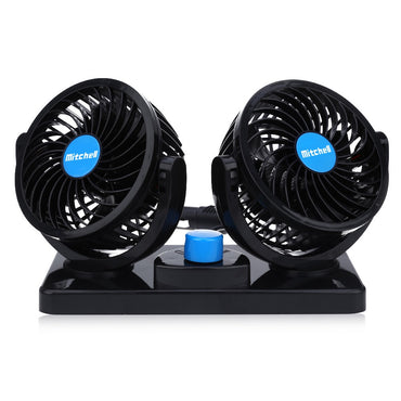 12V Mini Electric Car Fan Low Noise Summer Car