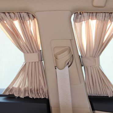 2 x 50S Aluminum Shrinkable Windowshade Curtain Car