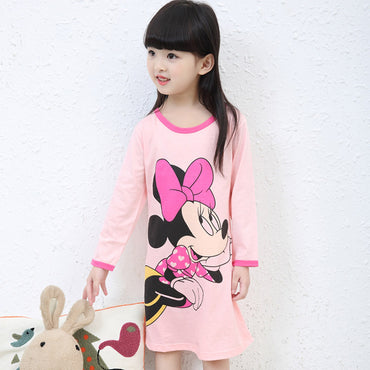 Winter Style Girl Nightgown Children
