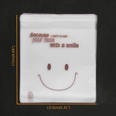 SmileFace Self Adhesive Plastic Packing Bags