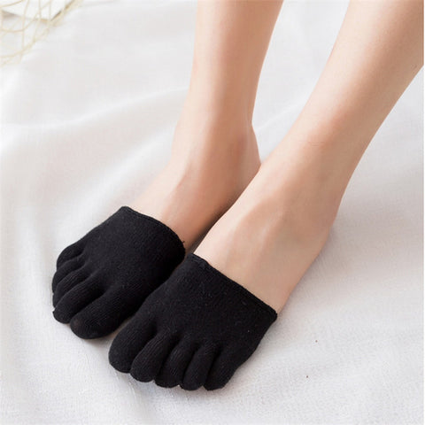 Fashion five fingers half of the women socks plus cotton sweat