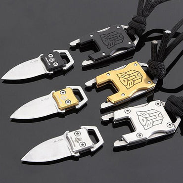 Mini Transformers pocket knife  outdoor folding camping