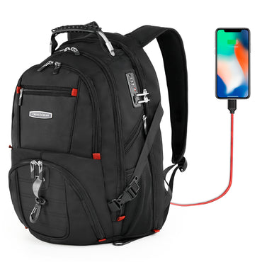 Pocket Backpack External USB Charge Computer