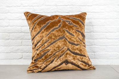 cushion throw pillow in Bengal Tiger | Gold - Zanders & Co