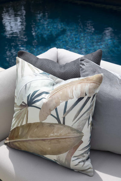 Cushion in Miami Charcoal OUTDOOR - Zanders & Co