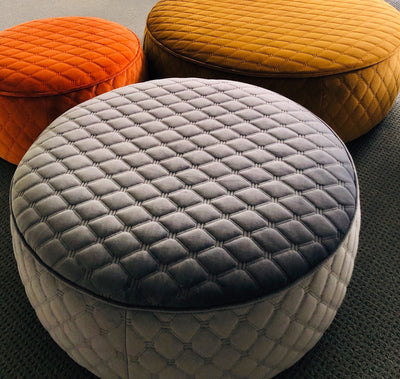 cushion throw pillow in PELUCHE OTTOMAN 600MM ROUND - Zanders & Co