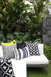 Cushion in South Beach Stripe Charcoal OUTDOOR - Zanders & Co