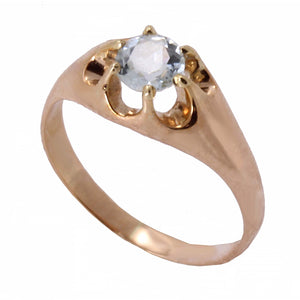 Aquamarine 14k Rose Gold Ring