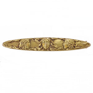 Art Nouveau 14k Gold Women Pin Front