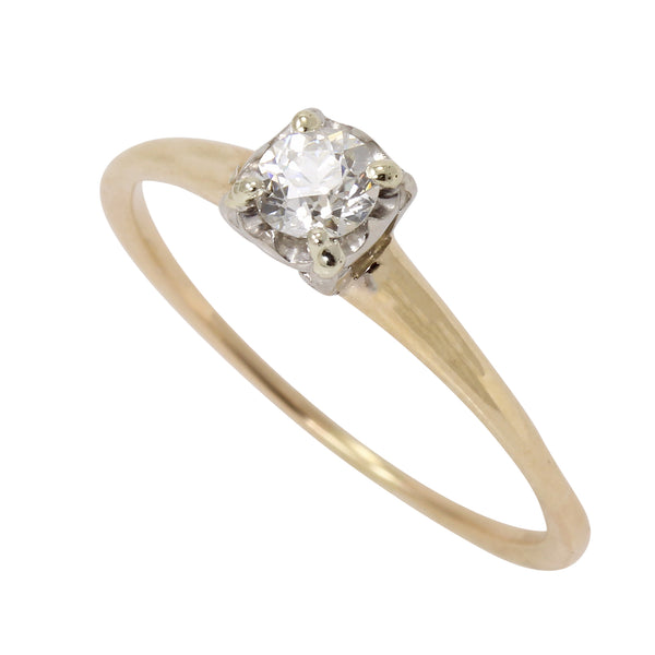 Diamond Solitaire .25ct 14k Yellow Gold Ring