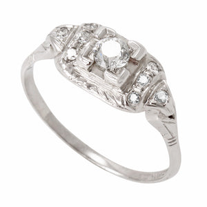 Vintage Platinum .37 cttw Diamond Ring