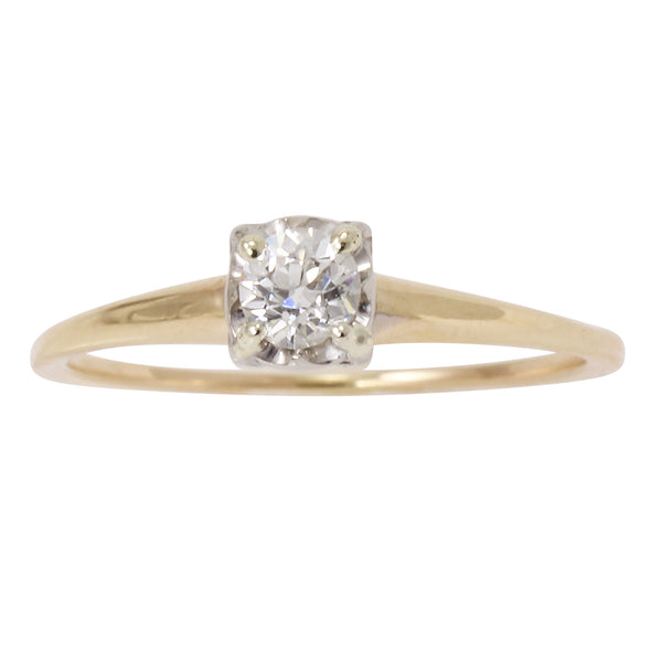 Diamond Solitaire .25ct 14k Yellow Gold Ring Front