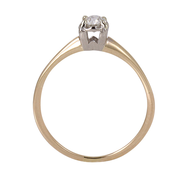 Diamond Solitaire .25ct 14k Yellow Gold Ring Side