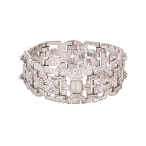 Sensational Art Deco Rhinestone Bracelet by Engel Brothers