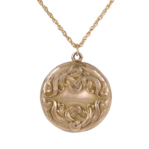 Art Nouveau Gold Filled Locket Front