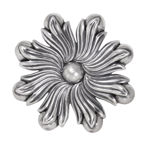 Los Castillo, Taxco Mexico Sterling Silver Foliate and Flower Bud Pin