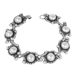Taxco Mexico 950 Sterling Bracelet Front
